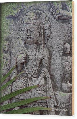 God Shiva Wood Print by Susanne Van Hulst