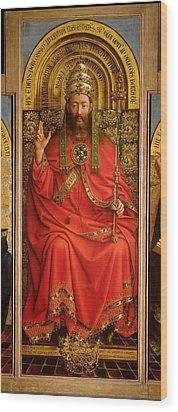 God The Father Wood Print by Hubert and Jan Van Eyck
