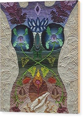 Godbody Wood Print by Arla Patch