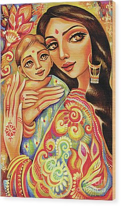 Goddess Blessing Wood Print by Eva Campbell