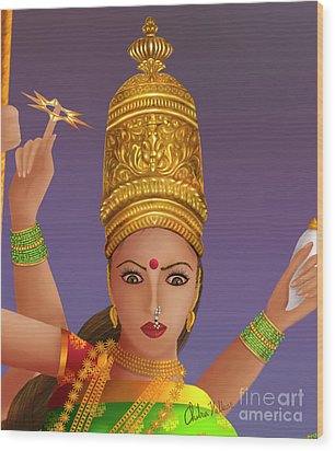 Goddess Durga Wood Print