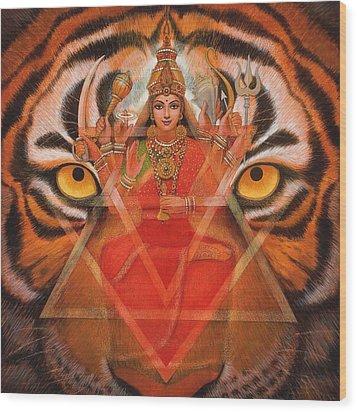 Goddess Durga Wood Print by Sue Halstenberg