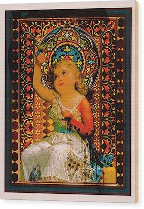Goddess In Training Wood Print by Janiece Senn