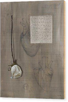 Goddess Leto Wood Print by Kristin Llamas