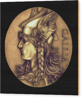 Goddess Of Gaul Wood Print by Fred Larucci