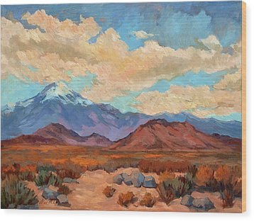 God's Creation Mt. San Gorgonio  Wood Print by Diane McClary