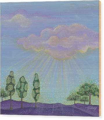 God's Grace Wood Print by Tanielle Childers