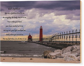 God's Lighthouse Wood Print