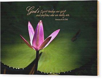 God's Spirit Wood Print by Carolyn Marshall