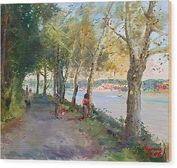 Going For A Stroll Wood Print by Ylli Haruni