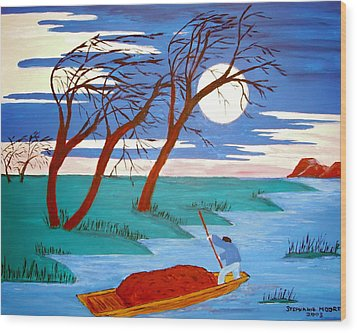 Wood Print featuring the painting Going Home by Stephanie Moore