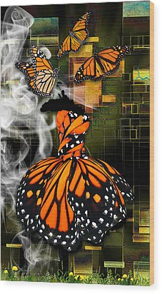 Wood Print featuring the mixed media Going The Distance by Marvin Blaine
