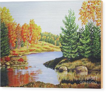 Wood Print featuring the painting Going To Killarney by Inese Poga