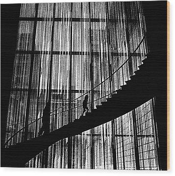 Going Up Wood Print by Dennis Sullivan