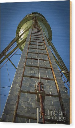 Wood Print featuring the photograph Going Up Mary Leila Cotton Mill Water Tower Art by Reid Callaway