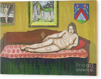Gok With Munch And Cezanne Wood Print by Neil Trapp