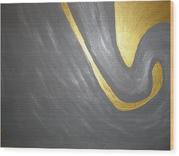 Gold And Gray Wood Print
