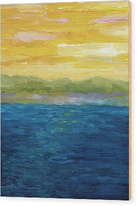 Gold And Pink Sunset  Wood Print by Michelle Calkins