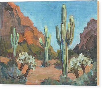 Wood Print featuring the painting Gold Canyon by Diane McClary