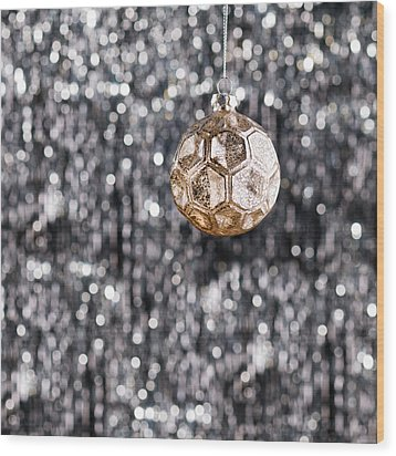 Wood Print featuring the photograph Gold Christmas by Ulrich Schade