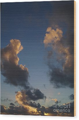Gold Clouds  Wood Print by Chad Natti