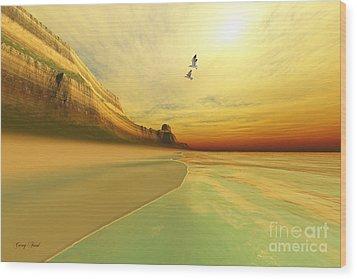 Gold Coast Wood Print by Corey Ford