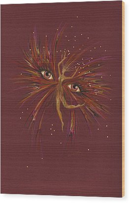 Wood Print featuring the drawing Gold by Dawn Fairies