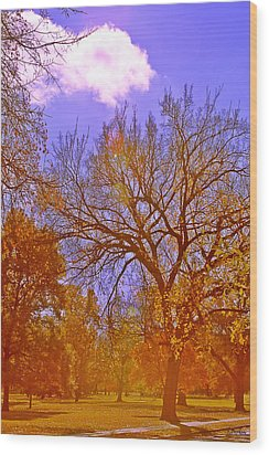 Gold Day Wood Print by Kat Besthorn