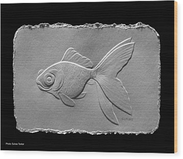 Gold Fish1a Wood Print