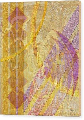 Gold Fusion Wood Print by John Beck