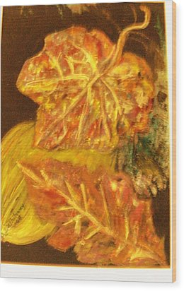 Gold Gold Gold Wood Print by Anne-Elizabeth Whiteway