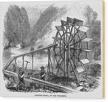 Gold Mining, 1860 Wood Print by Granger