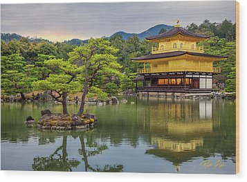 Wood Print featuring the photograph Gold Temple,  by Rikk Flohr
