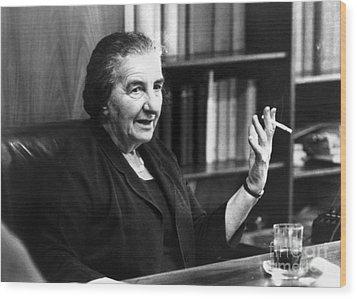 Golda Meir (1898-1978) Wood Print by Granger