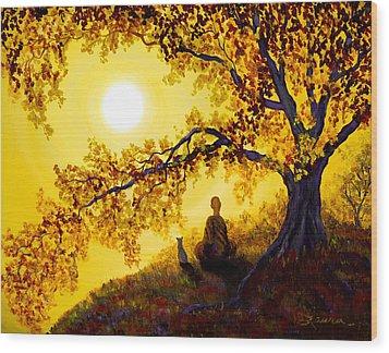 Golden Afternoon Meditation Wood Print