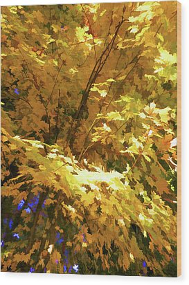 Golden Autumn Scenery Wood Print by Lanjee Chee
