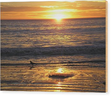 Golden Beach Wood Print by J Perez