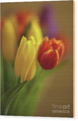 Golden Bouquet Wood Print by Mike Reid