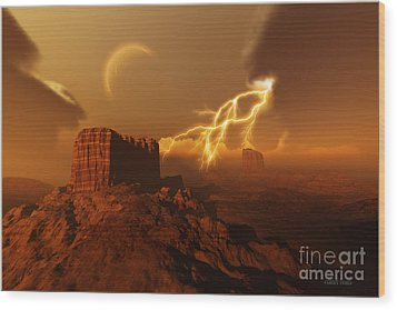 Golden Canyon Wood Print by Corey Ford