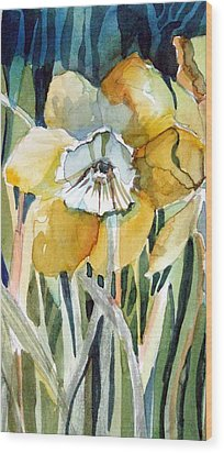 Golden Daffodil Wood Print by Mindy Newman