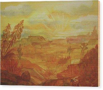 Golden Dawn Wood Print by Ellen Levinson