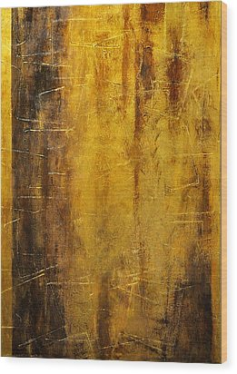 Golden Discovery Wood Print by Nicky Dou