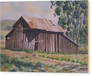 Golden Eagle Ranch Barn Wood Print