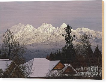 Wood Print featuring the photograph Golden Ears Mountain View by Sharon Talson