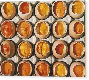 Golden Eggs 2 Wood Print by Mark Cawood
