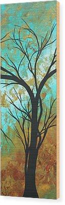 Golden Fascination 4 Wood Print by Megan Duncanson