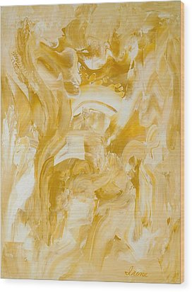 Golden Flow Wood Print by Irene Hurdle