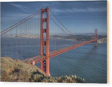 Golden Gate Wood Print by Andreas Freund