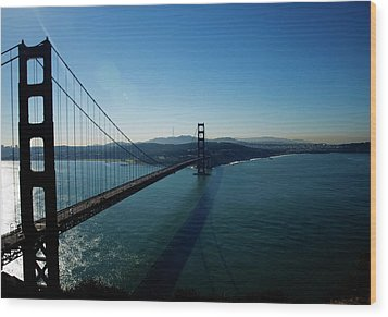 Golden Gate Blues Wood Print