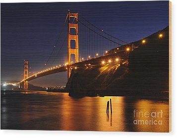 Golden Gate Bridge 1 Wood Print by Vivian Christopher